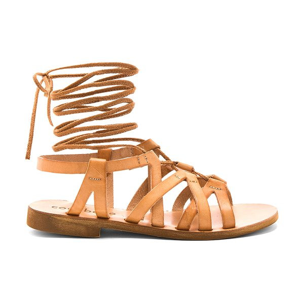 COCOBELLE Cleo Sandals in natural - Leather upper with man made sole. Lace-up front with...