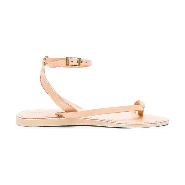 COCOBELLE Spartan Sandal - Leather upper with man made sole. Ankle strap with...
