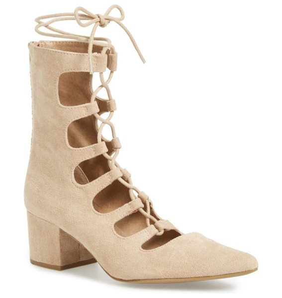 Coconuts by Matisse matisse 'sonia' lace-up pump in natural - You can still show off a hint of skin as the weather...
