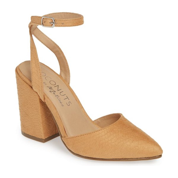 Coconuts by Matisse ritual ankle strap pump in brown