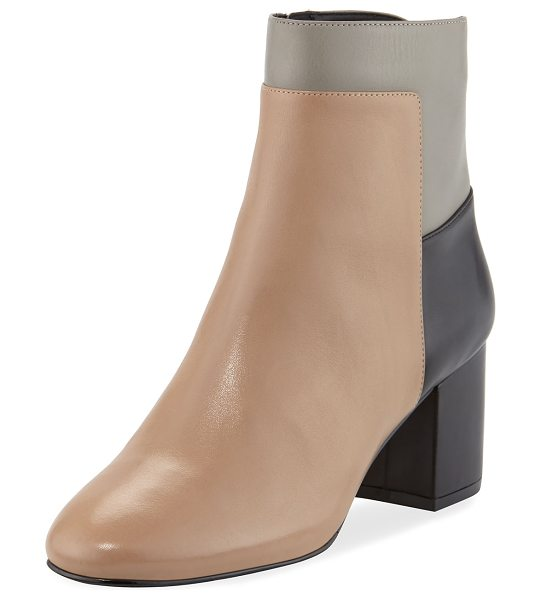 Cole Haan Arden Grand Colorblock Bootie in black maple sugar - Cole Haan colorblock leather bootie. Grand. OS...