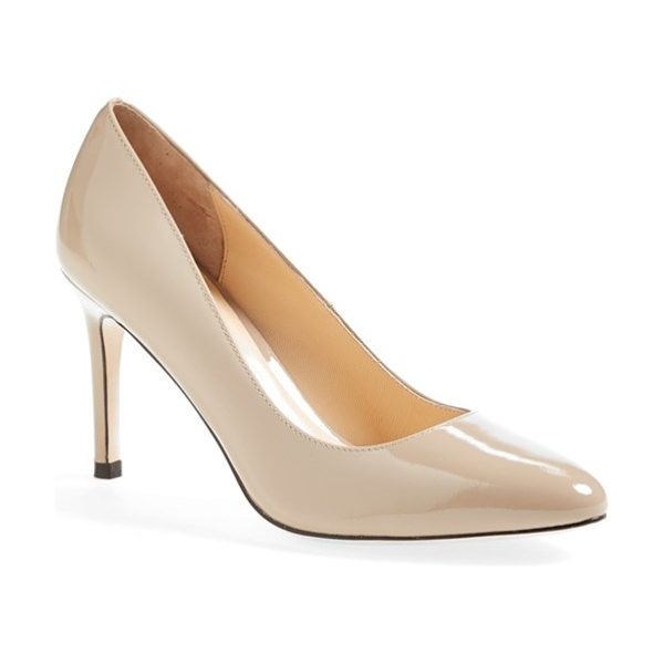 Cole Haan bethany leather pump in maple sugar patent - Sleek and always chic, this refined almond-toe pump is...