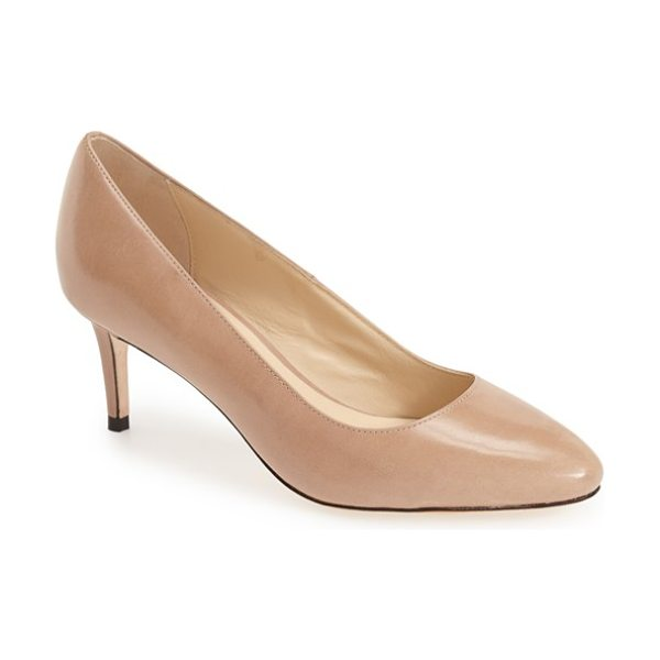 Cole Haan bethany pointy toe pump in maple sugar leather - Sleek and always chic, this refined almond-toe pump is...