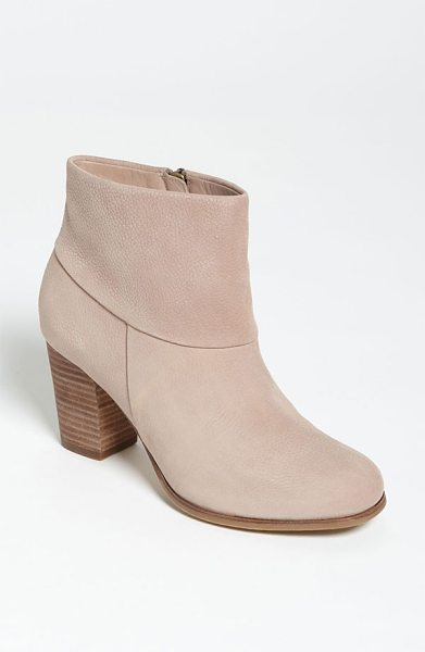 COLE HAAN cassidy bootie - A stacked heel elevates a versatile bootie shaped from...