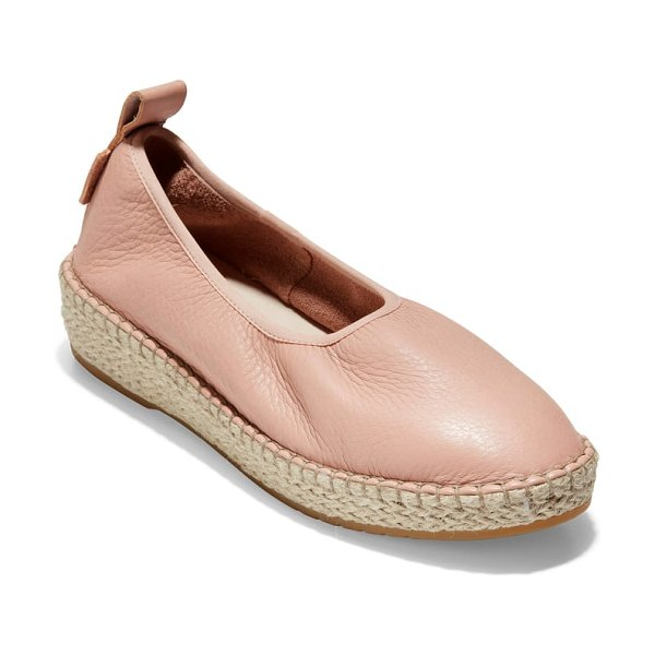 Cole Haan cloudfeel espadrille in pink - Ropy jute trim elevates the warm-weather appeal of a...