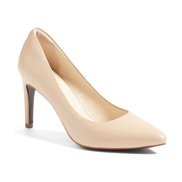 Cole Haan 'eliza in nude leather - A pointy-toe pump feels like an old favorite right out...