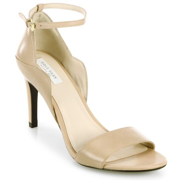 Cole Haan grace leather ankle strap sandals in nude