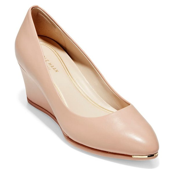 Cole Haan grand ambition wedge pump in pink