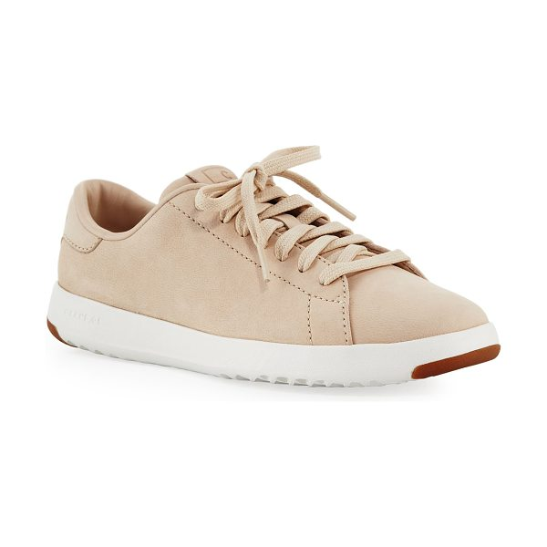 Cole Haan Grand Pro Tennis Sneaker in sand - Cole Haan tennis-inspired sneaker in leather. The most...