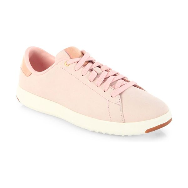 Cole Haan grandpro lace-up tennis sneakers in seashell - Tennis inspired sneakers crafted from smooth leather....