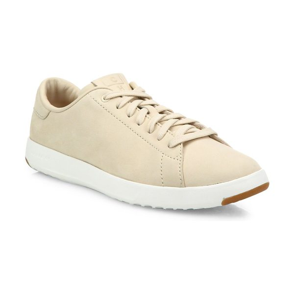 Cole Haan grandpro nubuck tennis sneakers in sandshell - Casual lightweight sneaker in smooth nubuck with tonal...