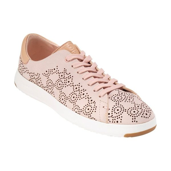COLE HAAN grandpro perforated sneaker - Tiny perforations in a rolling paisley pattern soften a...