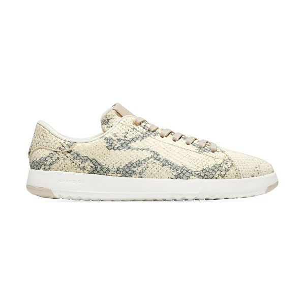 Cole Haan grandpro snakeskin-embossed leather sneakers in gold