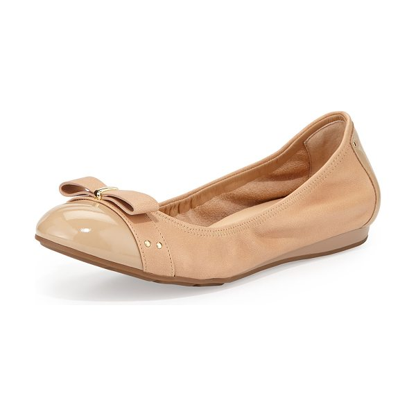 "Cole Haan Monica cap-toe ballet flat in sandstone - Cole Haan soft leather ballet flat. 0. 5"" demi-wedge..."