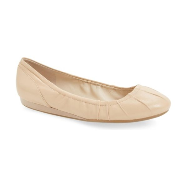 Cole Haan monique ballet flat in nude leather - Make room in your closet for the perfect ballet flat,...