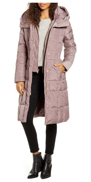 COLE HAAN SIGNATURE cole haan bib insert down & feather fill coat in pink