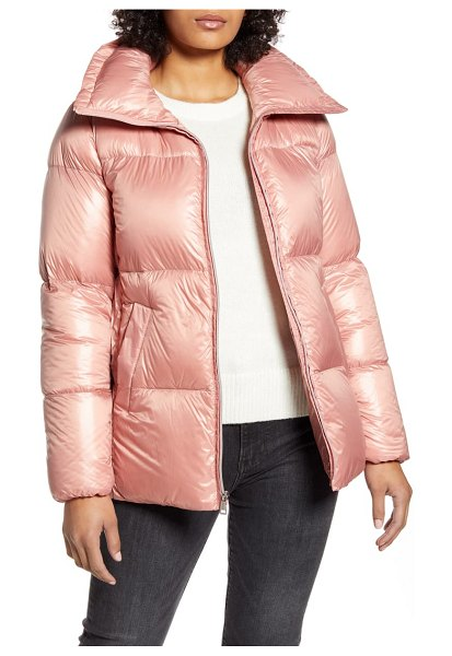 COLE HAAN SIGNATURE down puffer jacket in pink