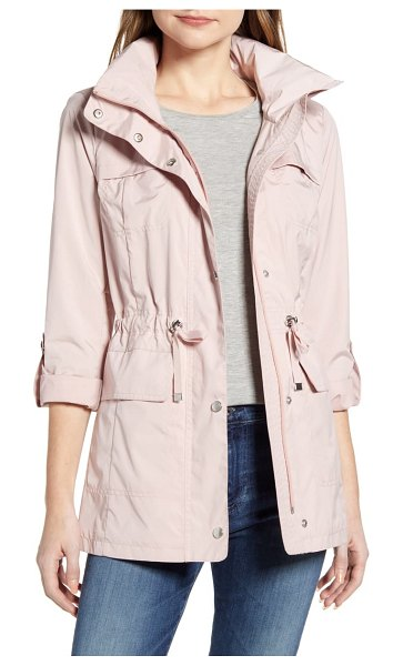 COLE HAAN SIGNATURE packable rain jacket in pink