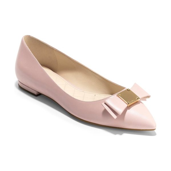 Cole Haan tali bow skimmer flat in metallic