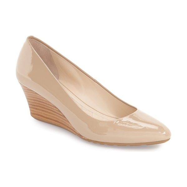 Cole Haan 'tali luxe' wedge pump in maple sugar patent leather - Perfect for days when you want a little height without...