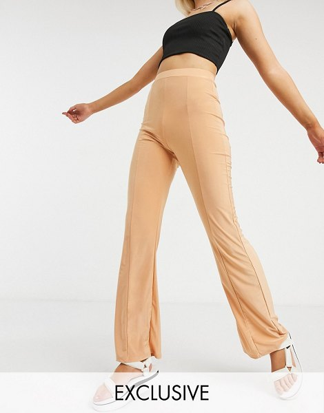 Collusion seam detail disco flares in blush-pink in pink