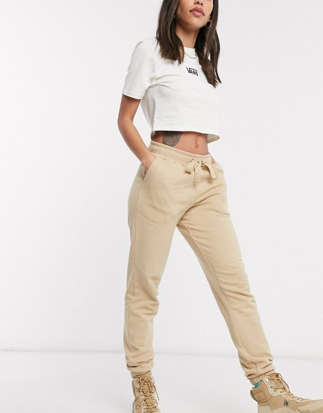 Collusion skinny sweatpants in beige in beige