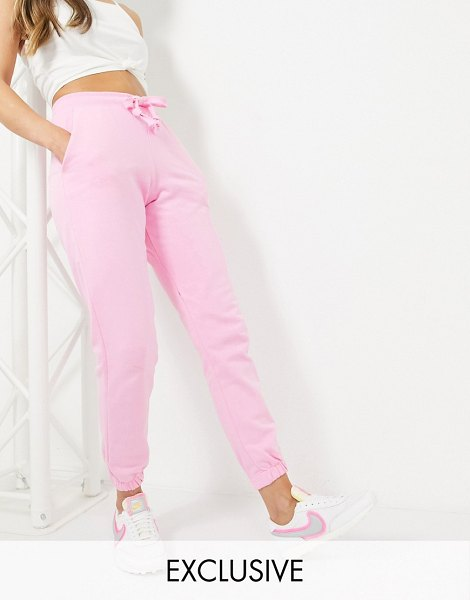 Collusion skinny sweatpants in pink in pink