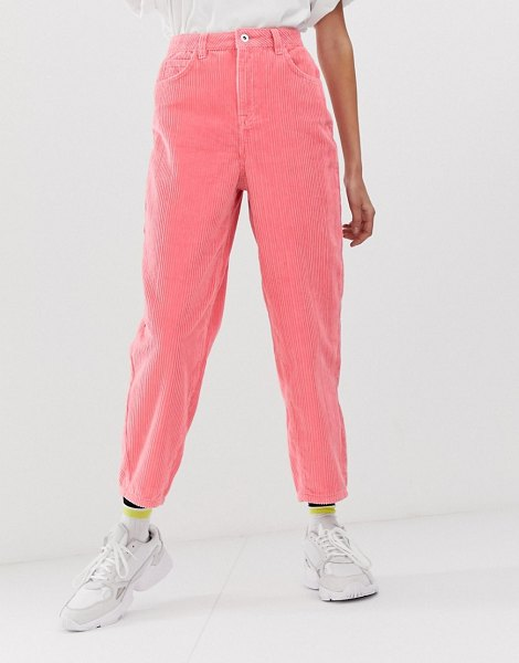 Collusion x012 balloon leg pants in cord in pink