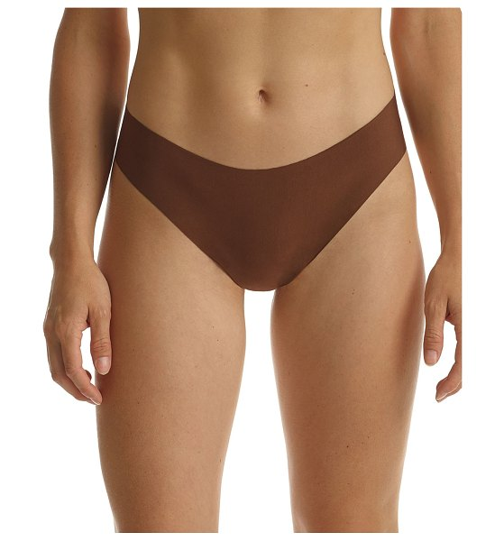 Commando Butter Seamless Thong in cinnamon