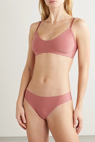 Commando butter stretch-modal thong in antique rose