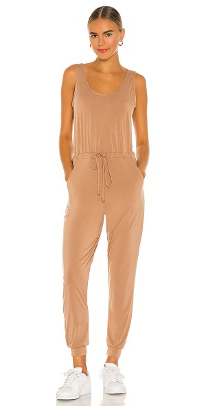 Commando butter tank lounge jumpsuit in toffee