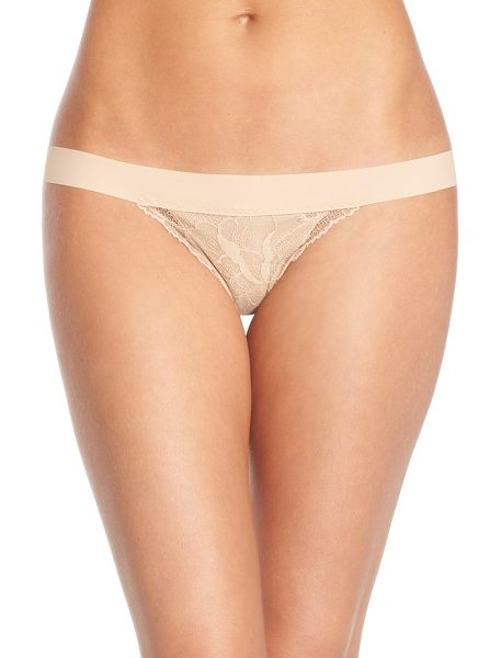 Commando double take lace g-string thong in true nude