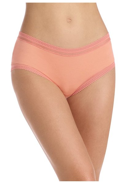 Commando pure pima girlshort briefs in coral