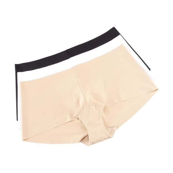 Commando Seamless cotton boy shorts in nude - Choose nude, black, or white. Seamless invisible edges...