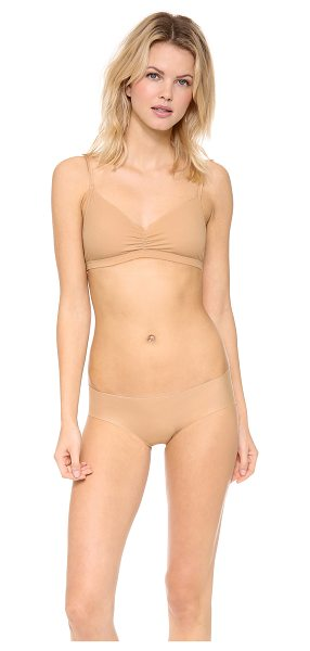 Commando Soft cup cotton bralette in nude - A jersey Commando bra has a barely there look and feel...