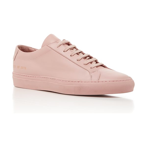 Common Projects Achilles Retro Low Sneaker in pink - Designers Prathan Poopat and Flavio Girolami of Common...