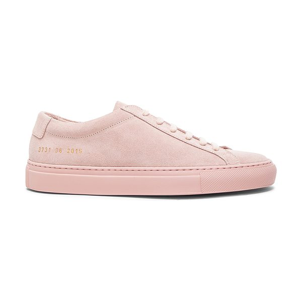 Common Projects Leather original achilles low suede in pink - Suede upper with rubber sole.  Made in Italy.