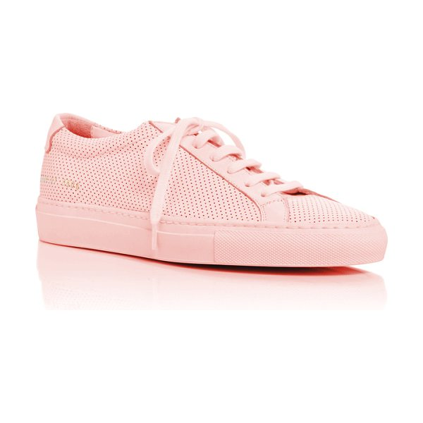 Common Projects Original Achilles Perforated Sneakers in pink - Inspired by the curves and lines of everyday objects...