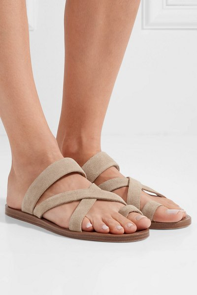 Common Projects suede sandals in beige