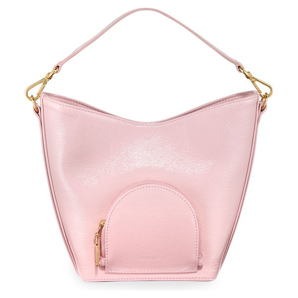 Complet Eva Mini Soft Leather Bucket Bag in pink
