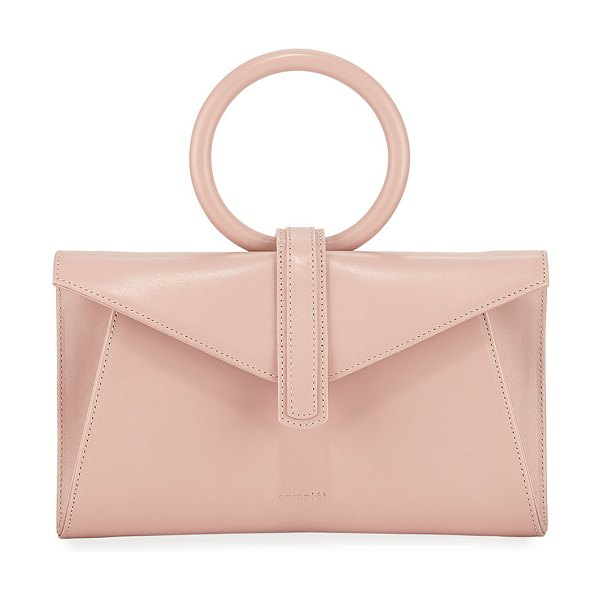 Complet Vallery Mini Smooth Leather Top-Handle Bag in blush