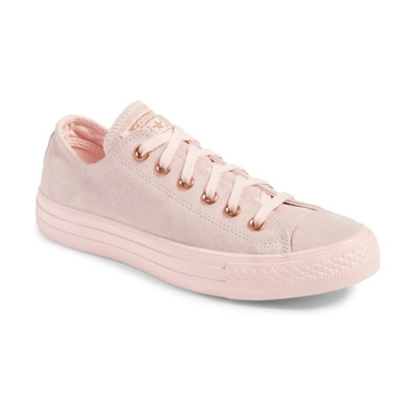 Converse blossom sneaker in vapor pink - The iconic All Star Low silhouette gets updated in luxe...