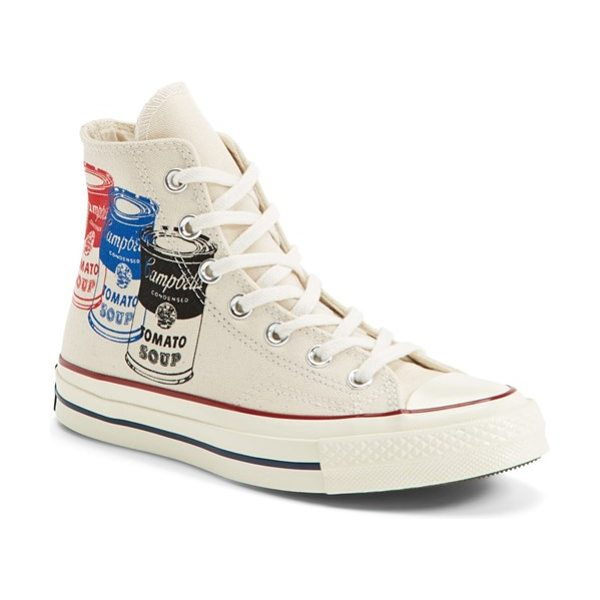 Converse chuck taylor all star 70 andy warhol collection high top sneaker in natural - Merging two American classics, this sporty high-top...