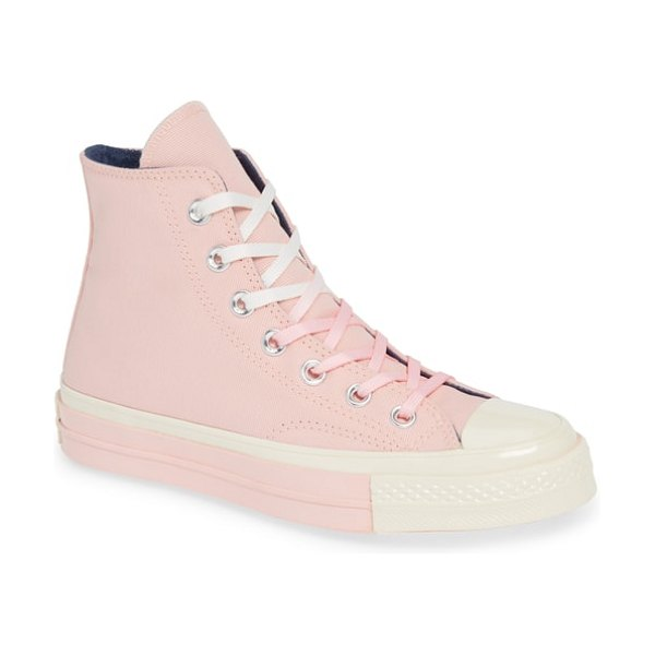 Converse chuck taylor all star 70 colorblock high top sneaker in storm pink - Based on an original '70s design, this high-top sneaker...