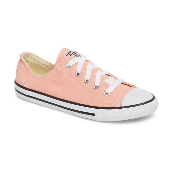 CONVERSE chuck taylor all star dainty ox low top sneaker - A tailored silhouette refines a classic low-top sneaker...