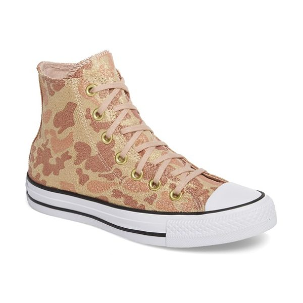 CONVERSE chuck taylor all star high top sneaker - A dusting of glitter refreshes the classic camo pattern...