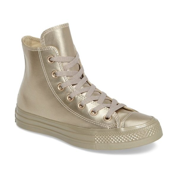 CONVERSE chuck taylor all star liquid hi sneaker - Metallic faux leather adds a glamorous touch to a...