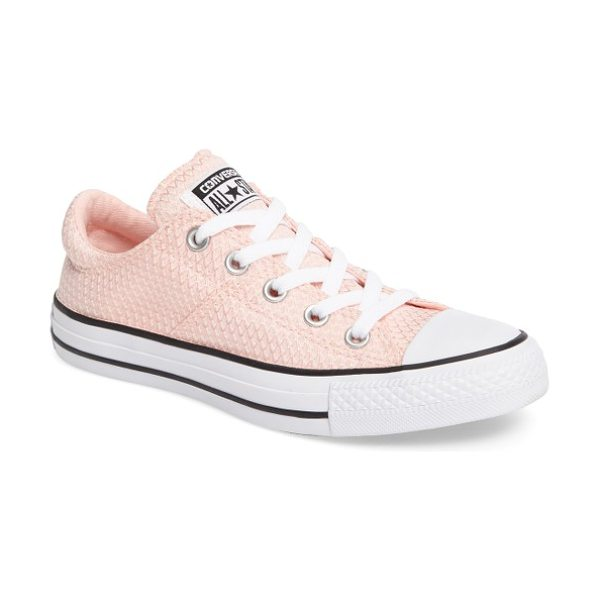 CONVERSE chuck taylor all star madison low top sneaker in vapor pink/ black/ white - An iconic low-top sneaker steps out in textured...