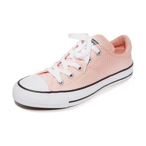 Converse chuck taylor all star madison in vapor pink/black/white - Converse sneakers composed of scale-patterned jacquard...