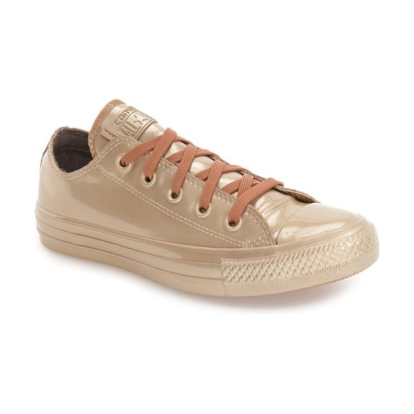 Converse chuck taylor all star metallic water repellent low top sneaker in blush gold/ blush gold - Reinforced rubber construction and gusseting at the...
